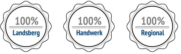 100% Landsberg, 100% Handwerk, 100% Regional